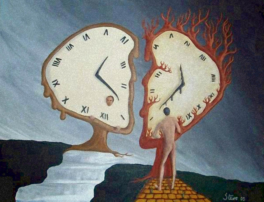 Time Travel Painting  - Time Travel Fine Art Print