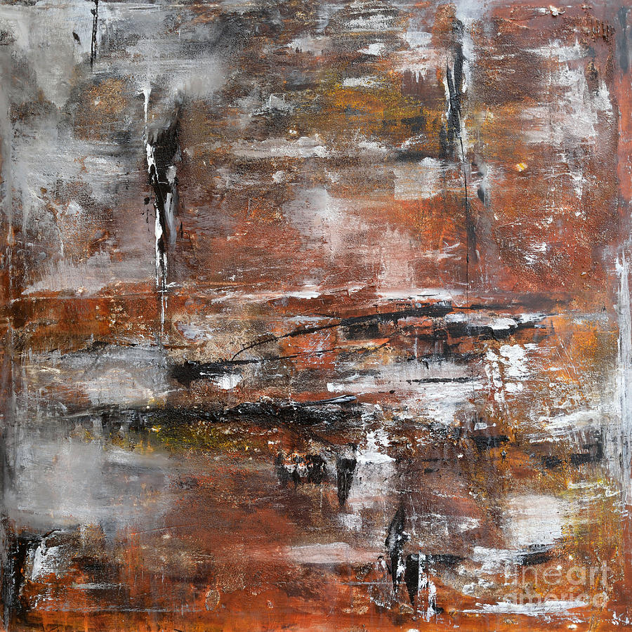Acrylic Painting Painting - Timeless - Abstract Painting by Ismeta Gruenwald