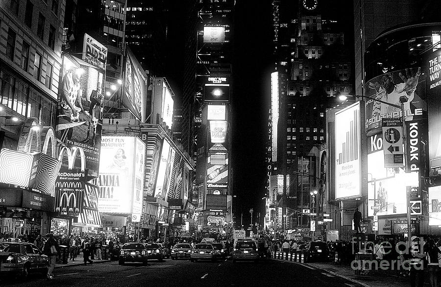 Times Square At Night Photograph