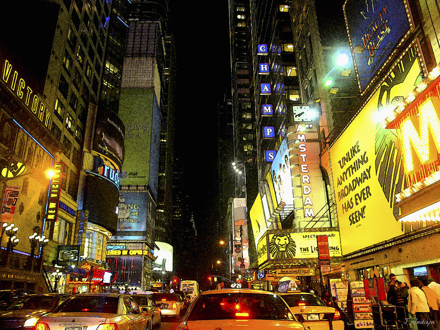 Times Square Photofresco Photograph  - Times Square Photofresco Fine Art Print