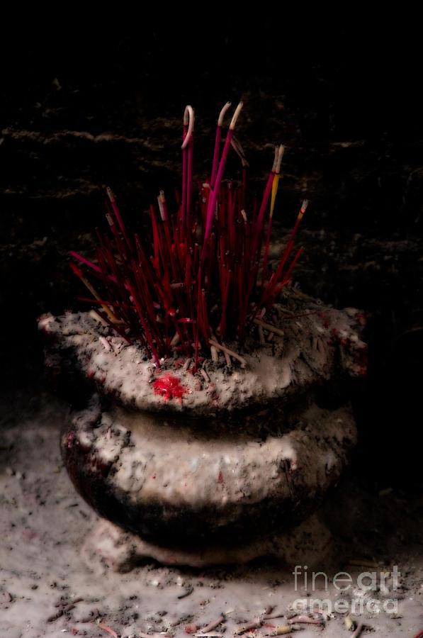 Timeworn Incense Pot Photograph