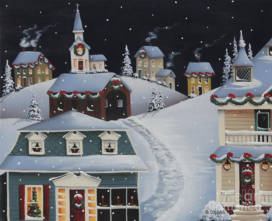 Tinsel Town Christmas Painting