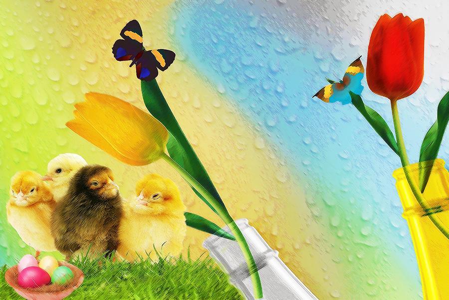 Tiptoe Through The Tulips Digital Art