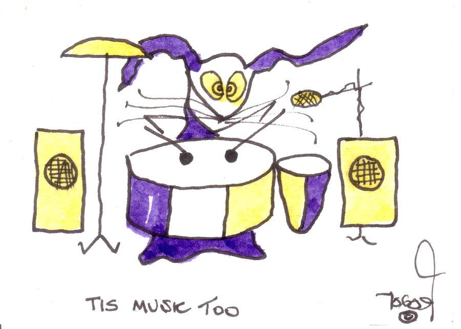Tis Music Too - Ringo - Beatles Painting
