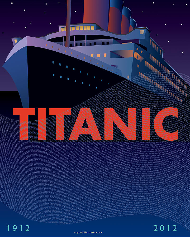 Titanic Painting - Titanic 100 Years Commemorative by Leslie Alfred McGrath