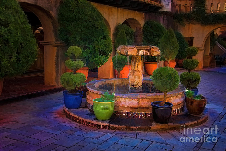 Tlaquepaque Fountain Photograph  - Tlaquepaque Fountain Fine Art Print