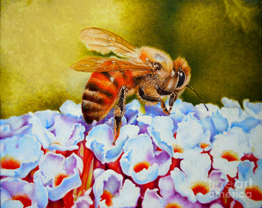To Bee Or Not To Bee Painting  - To Bee Or Not To Bee Fine Art Print