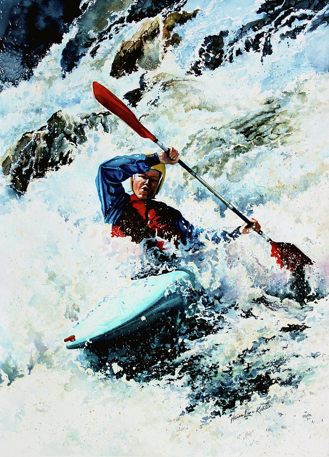 To Conquer White Water Painting