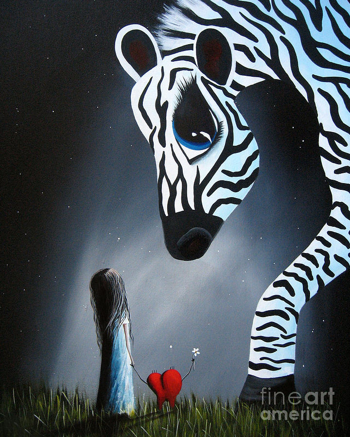 To Love Is To Be Loved By Shawna Erback Painting  - To Love Is To Be Loved By Shawna Erback Fine Art Print