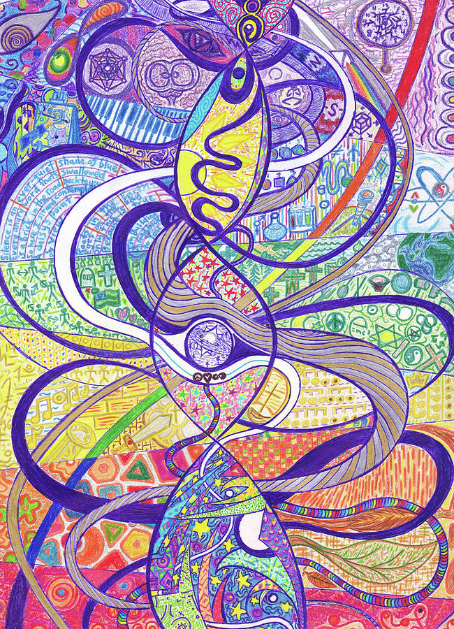 To See A World In A Dna Strand Drawing