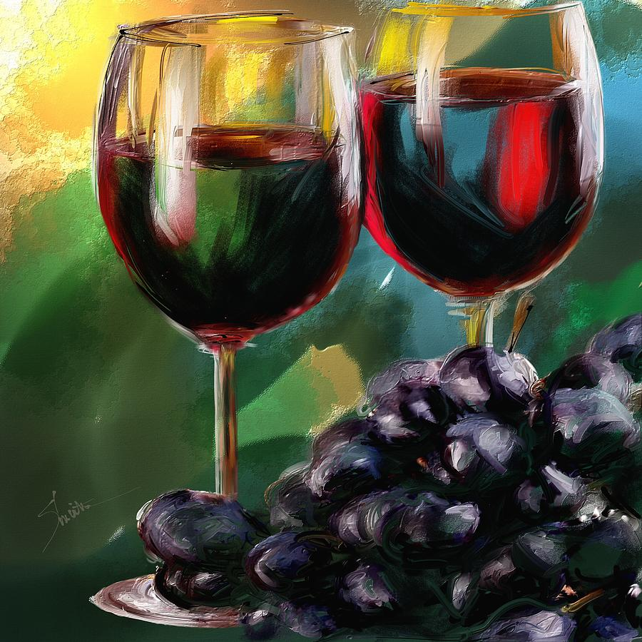 Toast of wine painting by robert smith for Painting and wine
