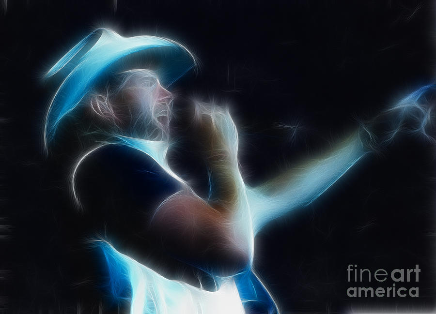 Toby Keith Fractal Photograph