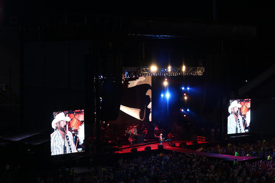 Toby Keith Stage - Tornado Relief Concert  Photograph
