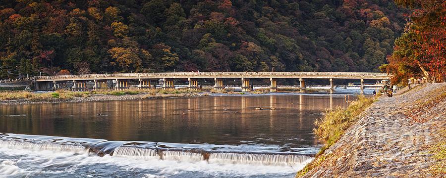 Togetsukyo Bridge And Katsura River Panorama Arashiyama Kyoto Ja Photograph