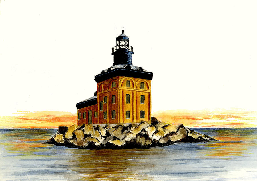Toledo Harbor Lighthouse Painting  - Toledo Harbor Lighthouse Fine Art Print