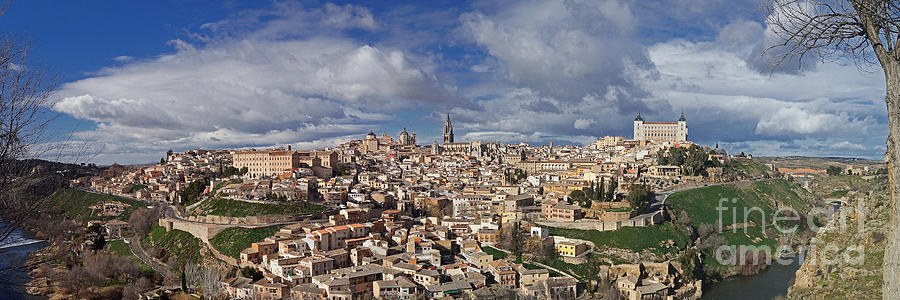 Europe Photograph - Toledo Old Town Panorama by Rudi Prott