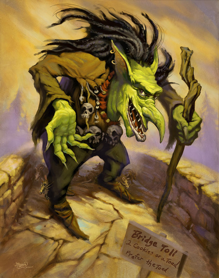 Toll Troll Painting  - Toll Troll Fine Art Print