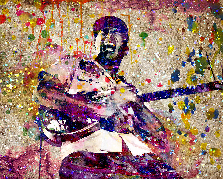 tom morello original painting by ryan rock artist