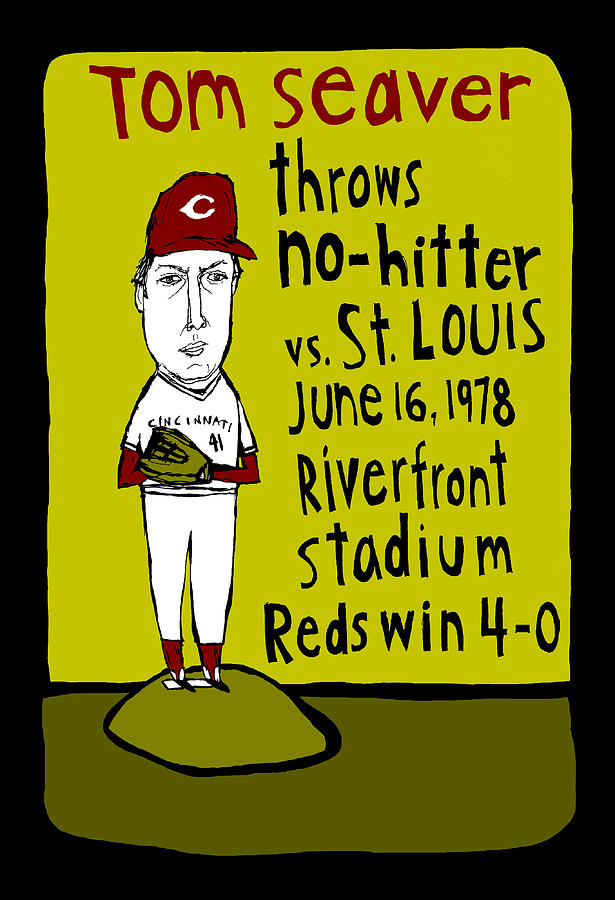 Tom Seaver Cincinnati Reds Painting