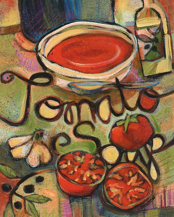 Tomato Soup Recipe Painting