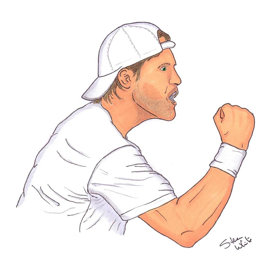 Tommy Haas Drawing  - Tommy Haas Fine Art Print