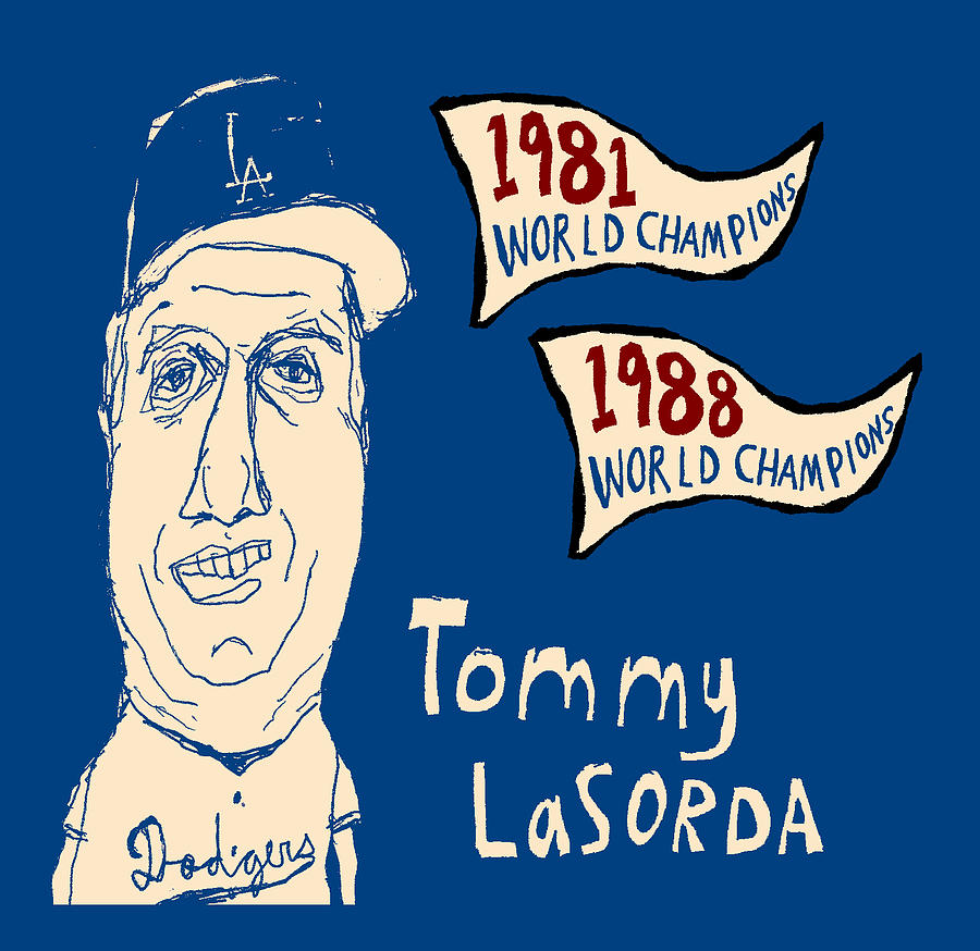 Tommy Lasorda Los Angeles Dodgers Painting