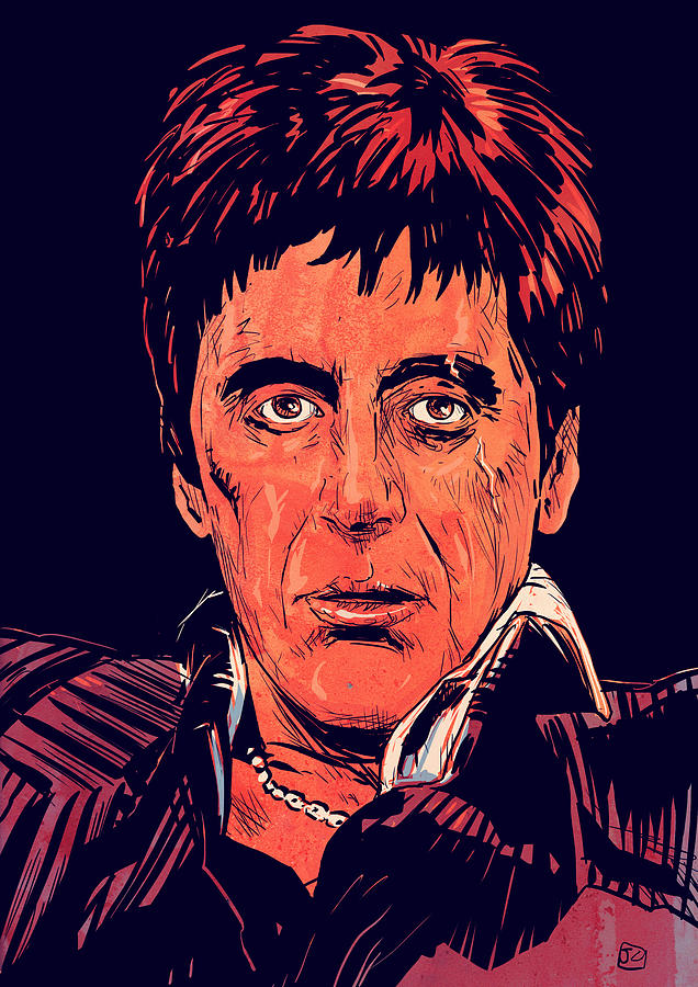 Tony Montana Drawing