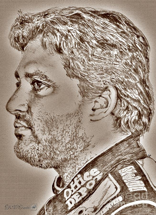 Tony Stewart In 2011 Digital Art  - Tony Stewart In 2011 Fine Art Print