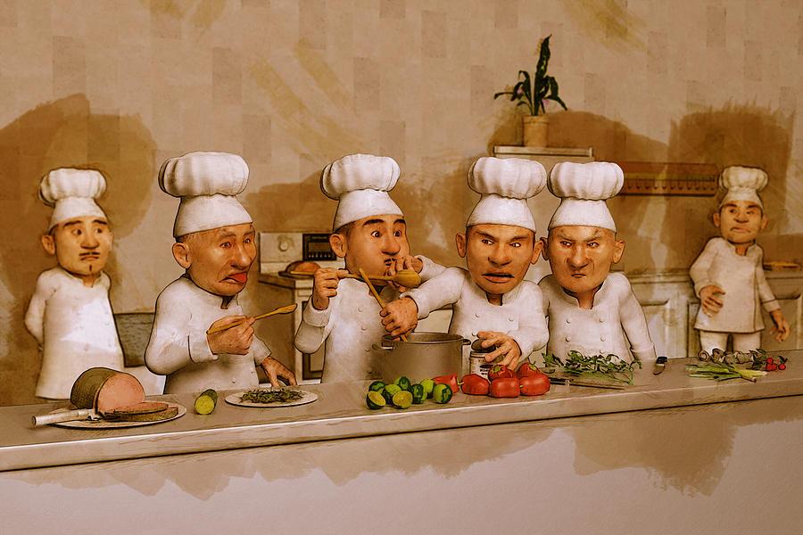 Too Many Cooks Spoil The Broth Digital Art