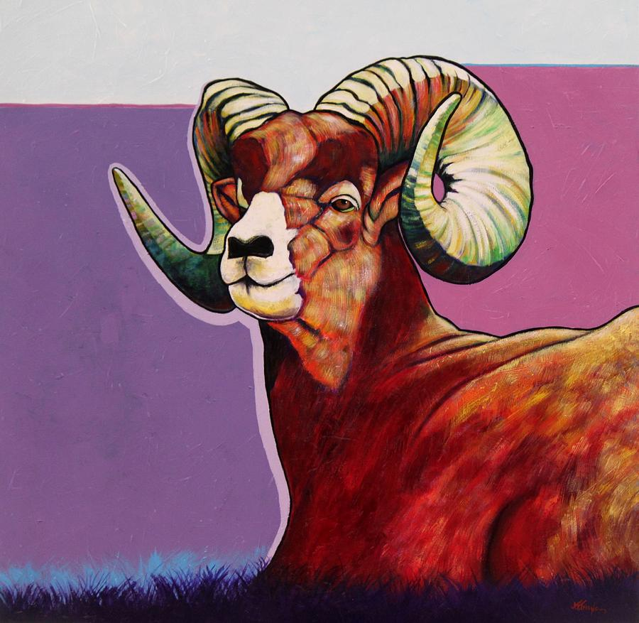 Top Heavy Big Horn Painting