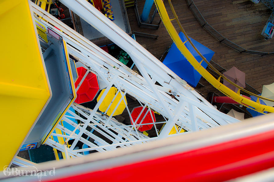 Top Of The Carousel Santa Monica Pier Photograph  - Top Of The Carousel Santa Monica Pier Fine Art Print