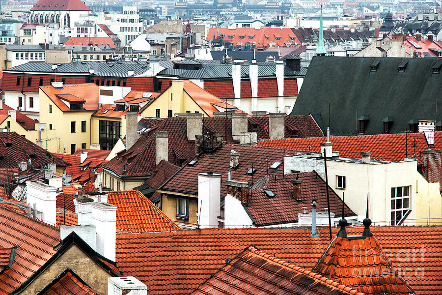 Top View In Prague Photograph  - Top View In Prague Fine Art Print