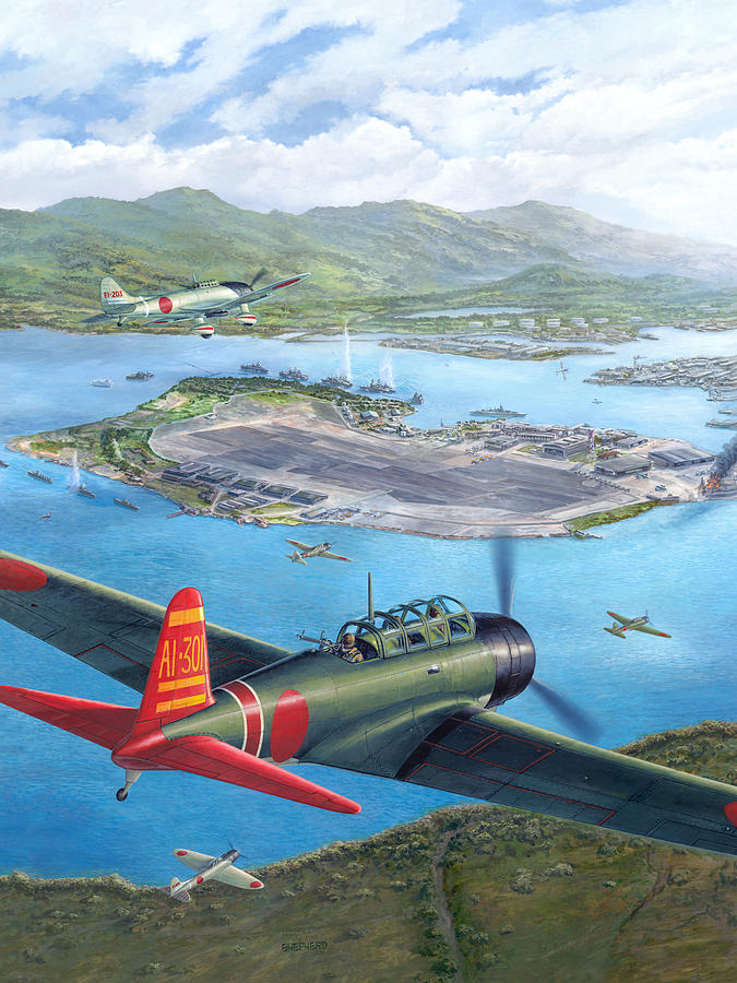 Tora Tora Tora The Attack On Pearl Harbor Begins Painting  - Tora Tora Tora The Attack On Pearl Harbor Begins Fine Art Print
