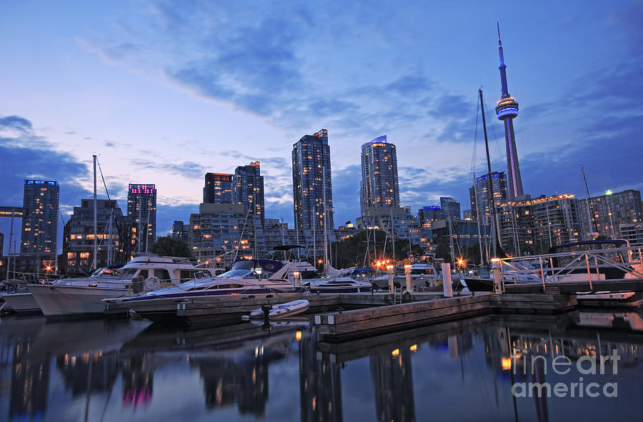 Toronto Harbour Evening Photograph