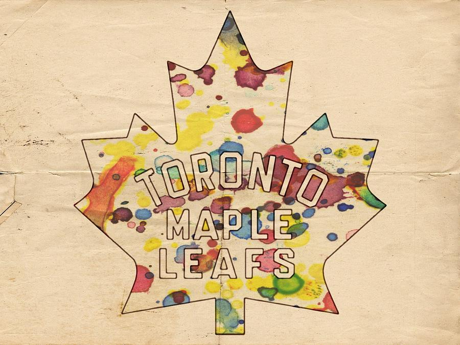 Toronto Maple Leafs Painting - Toronto Maple Leafs Vintage Poster by Florian Rodarte