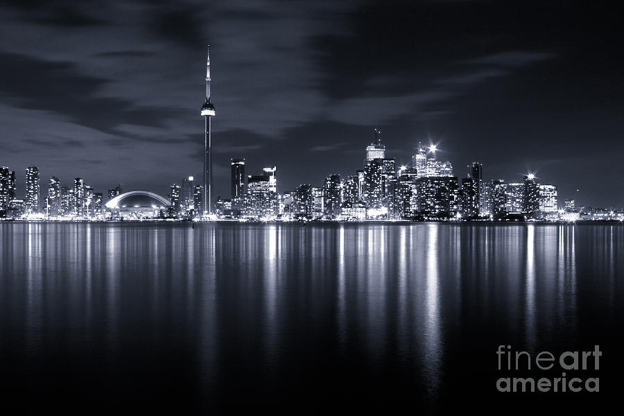 Toronto Skyline Monochrome Photograph