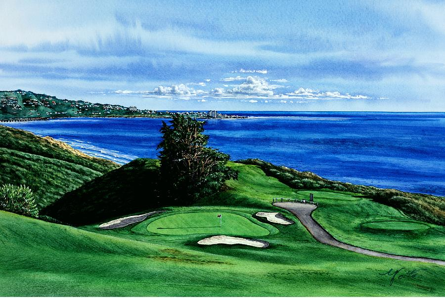 Torrey Pine Golf Course San Diego California Painting By