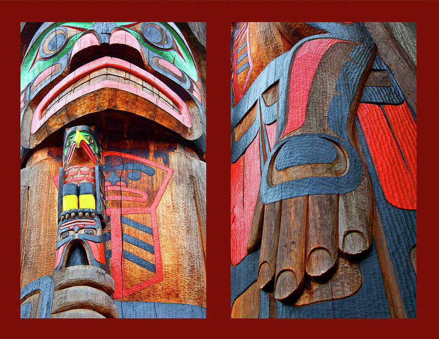 Native American Photograph - Totem 2 by Theresa Tahara