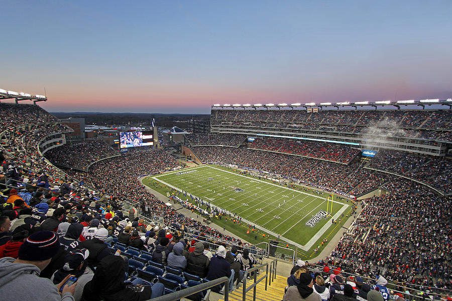 Touchdown New England Patriots  Photograph  - Touchdown New England Patriots  Fine Art Print
