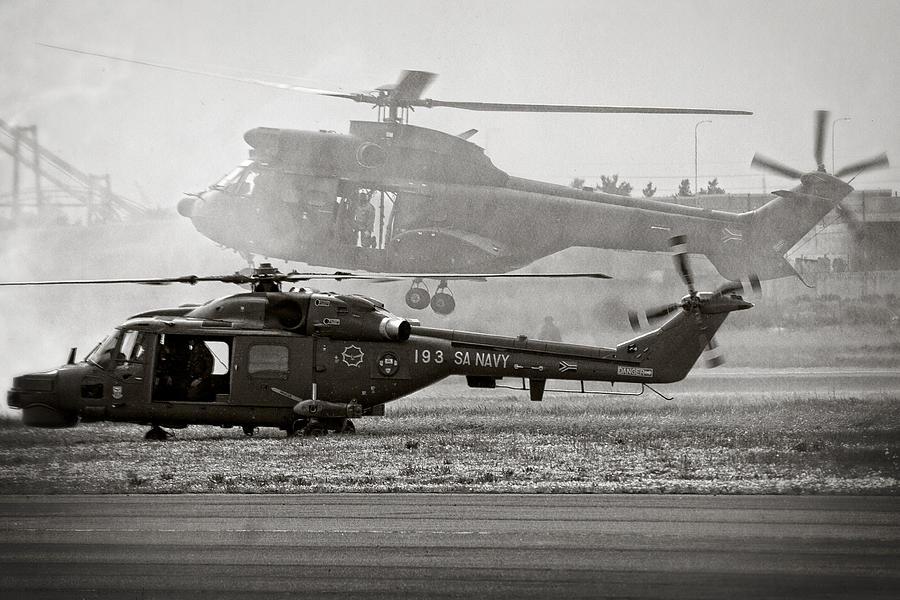 Agusta Westland Super Lynx 300 Photograph - Touchdown by Paul Job