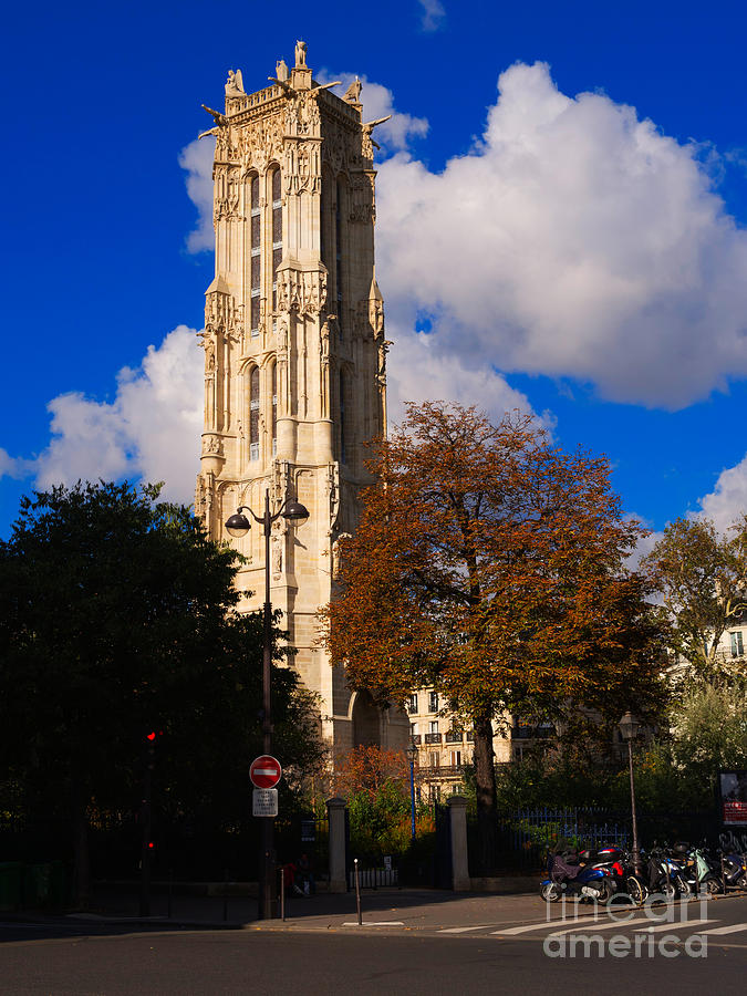 Tour St Jacques Paris Photograph  - Tour St Jacques Paris Fine Art Print