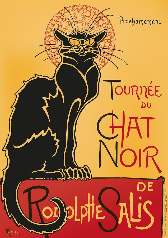 Tournee Du Chat Noir - Black Cat Tour Digital Art