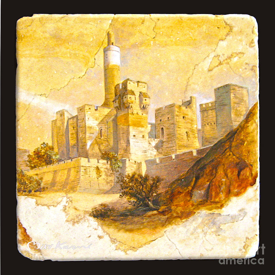Tower Of David Painting  - Tower Of David Fine Art Print