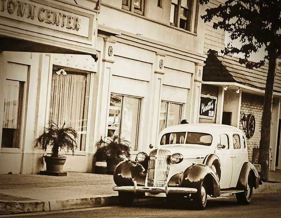Antique Car Photograph - Town Center by Caitlyn  Grasso