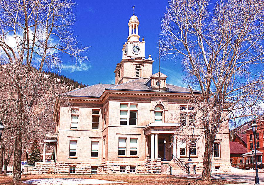 Town Of Silverton Colorado Courthouse Photograph