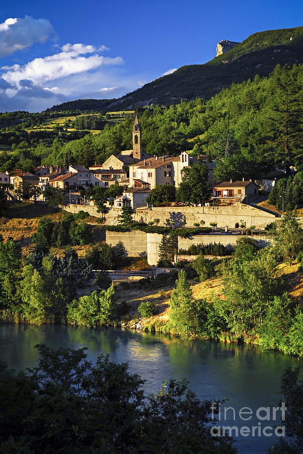 Town Of Sisteron In Provence Photograph  - Town Of Sisteron In Provence Fine Art Print