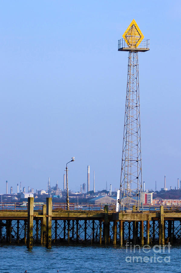 Town Quay Navigation Marker And Fawley Photograph