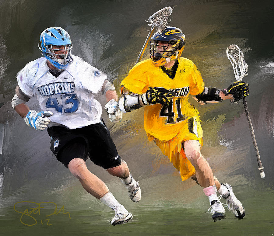 Towson Lacrosse Painting