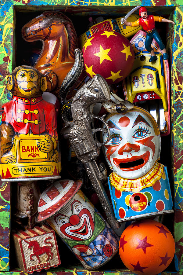 Clown Photograph - Toy Box by Garry Gay