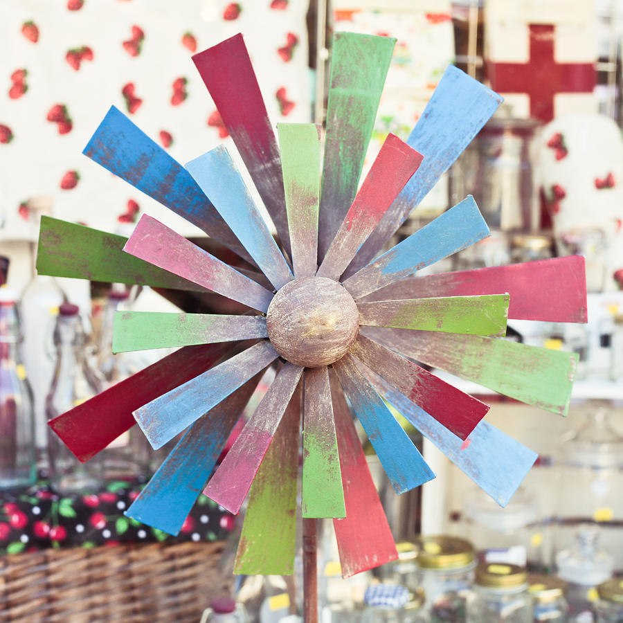 Antique Photograph - Toy Windmill by Tom Gowanlock